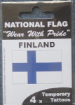 Finland Country Flag Tattoos.